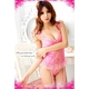 モテカワ!!!ストッキング&ガーターベルト付ピンクのベビードール&Tバック・ランジェリー  写真2