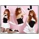 コスプレ 黒×白*グローブ付胸元リボンの可愛いバニーガール (4点入り) - 縮小画像2