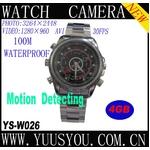 腕時計型ビデオカメラ HD Pixel[1280×960] 4Gメモリ内蔵 800万画素 100M防水