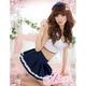 白ライン添えスカートの女子高校制服・学生服・コスプレ - 縮小画像1