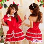 コスプレ 2011年新作 クリスマス☆サンタクロースコスプレセット/コスチューム/s004