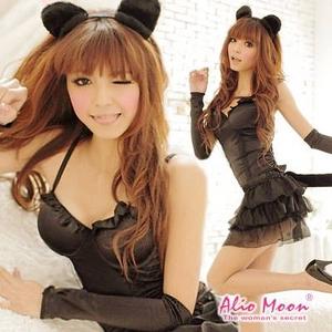 黒猫ちゃんコスチューム豪華5点セット/コスプレ/f116 - 拡大画像