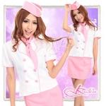 コスプレ ピンク/キャップ付純情派キャビンコスプレ 婦人警官 5374