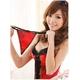 ランジェリー 赤×黒花柄コルセット&Tバック/コスプレ/コスチューム f396 - 縮小画像4
