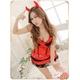 コスプレ セクシー小悪魔♪黒×赤のキュートなデビルコスプレ f355 - 縮小画像1
