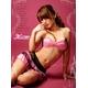コスプレ ランジェリー 黒×ピンク セクシーランジェリー3点セット z655 - 縮小画像2