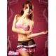 コスプレ ランジェリー 黒×ピンク セクシーランジェリー3点セット z655 - 縮小画像4