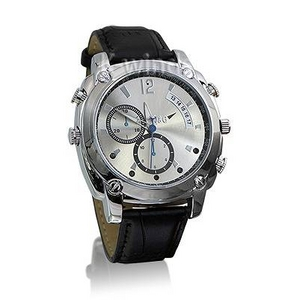 防水腕時計型ビデオカメラ (Dレザー) - 拡大画像