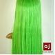 耐熱高級繊維 コスプレに欠かせないカラーウィッグ COSPLAY Sカラフルグリーン - 縮小画像5