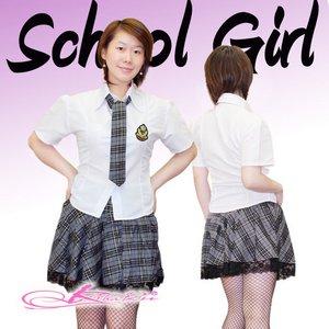 【グレー色】チェックのスクールコスプレ・学生服/6102 - 拡大画像