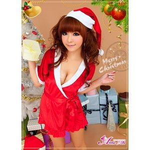クリスマス☆サンタクロースコスプレセット/コスチューム/s021【3点セット】 - 拡大画像
