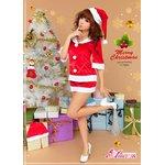 クリスマス☆サンタクロースコスプレセット/コスチューム/s020【3点セット】