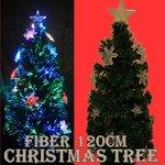 【クリスマス】LEDファイバークリスマスツリー/120cm