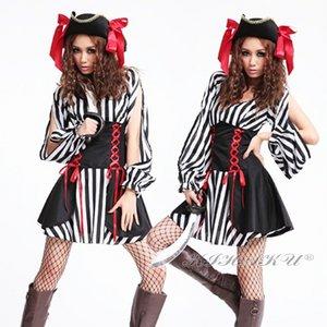 【黒白】海賊☆赤いリボン付帽子★コスプレ  4264 - 拡大画像