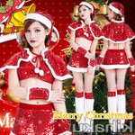 【クリスマスコスプレ】レッグウォーマー付 サンタコスプレ☆9409