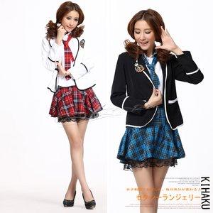 2color/白色【長袖ジャケット】ポケット付学生服・コスプレ【6118】