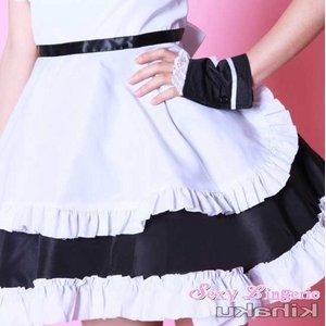 【黒】  2color萌えメイド コスチューム コスプレ/5407-b