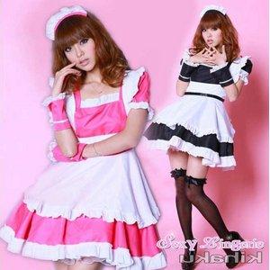 【ピンク】  2color萌えメイド コスチューム コスプレ/5407-p  - 拡大画像