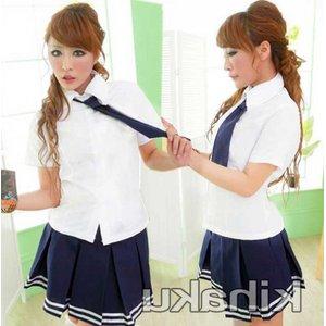 紺色の制服 コスプレ 学生服【6127】