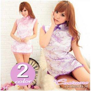 2color 紫 チャイナドレス コスプレ【1072-2】 - 拡大画像