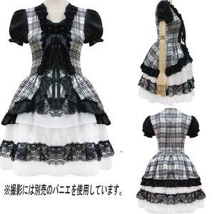 【黒チェック】 ワンピ ゴスロリ コスプレ/5707