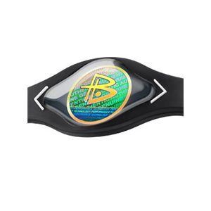 【日本正規品】POWER BALANCE(パワーバランス) シリコン・ブレスレット(ブラック/ホワイト Lサイズ)