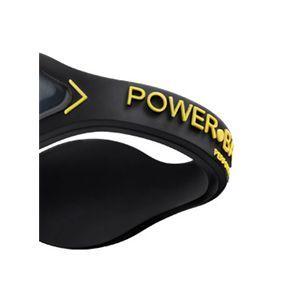 【日本正規品】POWER BALANCE(パワーバランス) シリコン・ブレスレット(ブラック/イエロー Mサイズ)