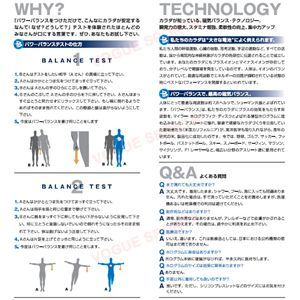 【日本正規品】POWER BALANCE(パワーバランス) シリコン・ブレスレット(グレー/ホワイト XSサイズ) h02