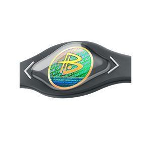 【日本正規品】POWER BALANCE(パワーバランス) シリコン・ブレスレット(グレー/ホワイト Mサイズ)