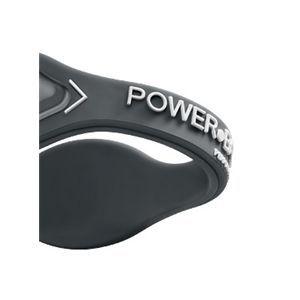 【日本正規品】POWER BALANCE(パワーバランス) シリコン・ブレスレット(グレー/ホワイト Lサイズ)