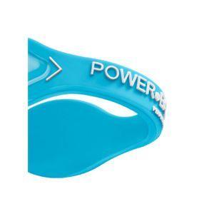 【日本正規品】POWER BALANCE(パワーバランス) シリコン・ブレスレット(アクアブルー/ホワイト Lサイズ)