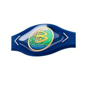 【日本正規品】POWER BALANCE(パワーバランス) シリコン・ブレスレット(ロイヤルブルー/ホワイト Lサイズ)
