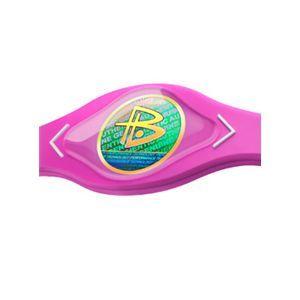 【日本正規品】POWER BALANCE(パワーバランス) シリコン・ブレスレット(ピンク/ホワイト Sサイズ)