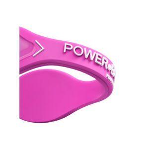【日本正規品】POWER BALANCE(パワーバランス) シリコン・ブレスレット(ピンク/ホワイト Lサイズ)
