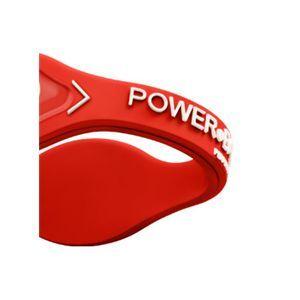【日本正規品】POWER BALANCE(パワーバランス) シリコン・ブレスレット(レッド/ホワイト Mサイズ)