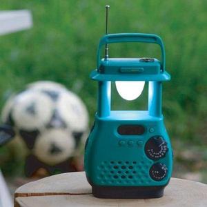 電池がなくても使える!ランタン型ダイナモラジオライト(携帯充電機能付き)【震災対策・防災用】 - 拡大画像
