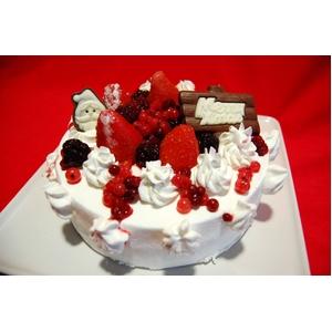 【賞味期限2月28日まで 2010年クリスマス仕様】訳ありオリジナルのクリスマスケーキが作れちゃう 手作りケーキセット - 拡大画像
