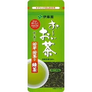 伊藤園 お〜いお茶 若芽・若茎入り緑茶【100g×10本セット】 - 拡大画像