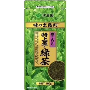 【ケース販売】伊藤園味の太鼓判特上蒸し緑茶1000【100g×10本セット】まとめ買い