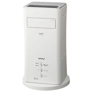 サンヨーウイルスウォッシャー搭載 空間清浄器(14畳まで) SANYO mistfan(ミストファン)シルバー[ VWP-MF20A-S ]