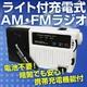【防災・停電・アウトドアに最適】電池不要!ライト付充電式AM・FMラジオ 携帯充電機能付 - 縮小画像1