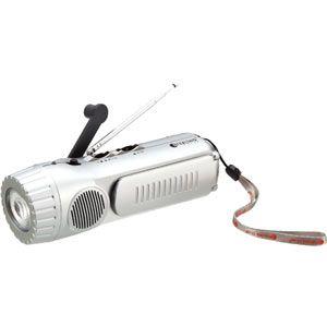 スタ-リング 手回し充電ラジオ ダイナモLEDランタンラジオ[ 5624(スタ-リング) ] - 拡大画像