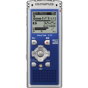 リニアPCM対応! ICレコーダー Voice-Trek(ボイストレック) V-75-BLU ブルー
