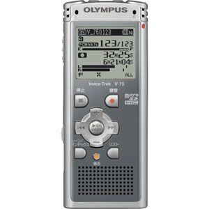 リニアPCM対応! ICレコーダー Voice-Trek(ボイストレック) V-75-GRY グレー