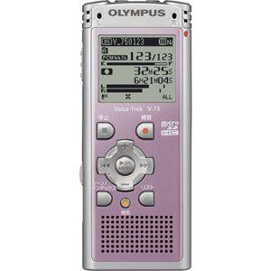 リニアPCM対応!ICレコーダー Voice-Trek(ボイストレック) V-75-PNK ピンク