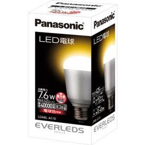 Panasonic LED電球(全光束:425 lm/電球色相当)【調光器対応モデル】 Panasonic EVERLEDS(エバーレッズ)[ LDA8LA1D ]