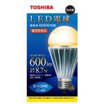 東芝 電球形LEDランプ(全光束:600 lm/電球色相当) E-CORE(イー・コア)[ LEL-AW8L ]