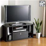 シグマAPOシステム 32V型まで対応 コーナーテレビラック ブラックオーク Simprectシリーズ[ THBS853-B ]