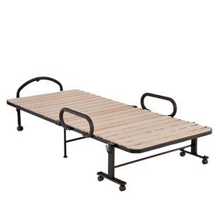ATEX(アテックス) 折りたたみベッド 収納式桐すのこベッド【シングル