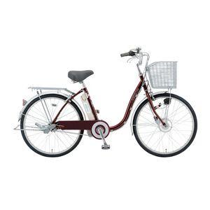 サンヨー 電動ハイブリッド自転車 24型 SANYO eneloop bike[ CY-SPF224A-R ] - 拡大画像